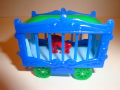 Circus Wagon Blue Sides/Baby Blue Frame for American Flyer #605