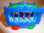 Circus Wagon Blue Sides/Baby Blue Frame for American Flyer #655