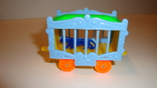 Circus Wagon -Yellow,BabyBlue,BrightGreen,Orange,Blue  #610