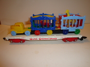 Reproduction American Flyer Circus FlatCar and Circus Load #300