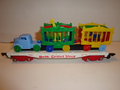 Reproduction American Flyer Circus FlatCar and Circus Load #301