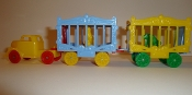 Yellow Truck / Red Wheels and 2 Wagons with Yellow Seal # 112