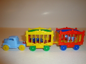 Circus Load for American Flyer-Baby Blue truck & 2 wagons #101